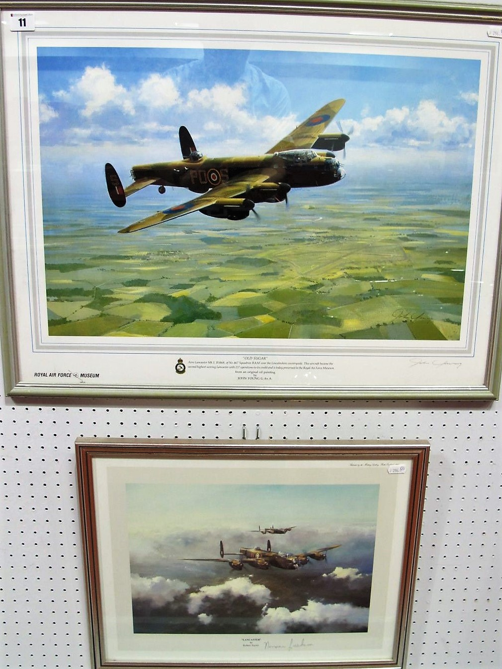 """Lot 11 - After Robert Taylor, """"Lancaster"""", reproduction print in colours, graphite signed Norman Jackson, ("""