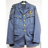 LOT WITHDRAWN - A 1949 RAF Sergeant Air Gunner Tunic, size 7, complete with medal ribbons, all