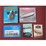 Five Airships Themed Books, borh hardback and softback including Macdonald and Jane's (1974)
