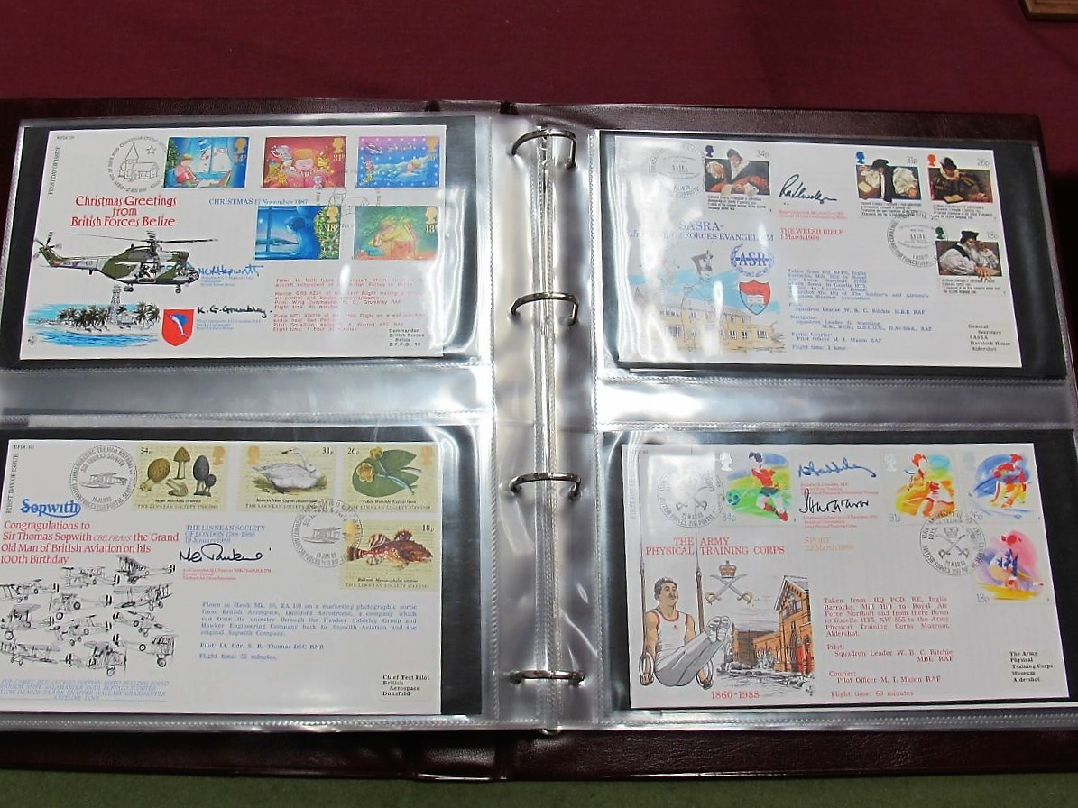 Lot 42 - Over Sixty R.A.F. Philatelic Flown Covers and Signed Covers, signatories include Richard Todd (Guy