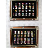 A Large Collection of British Medal Miniatures, all reproduction on two picture frames.