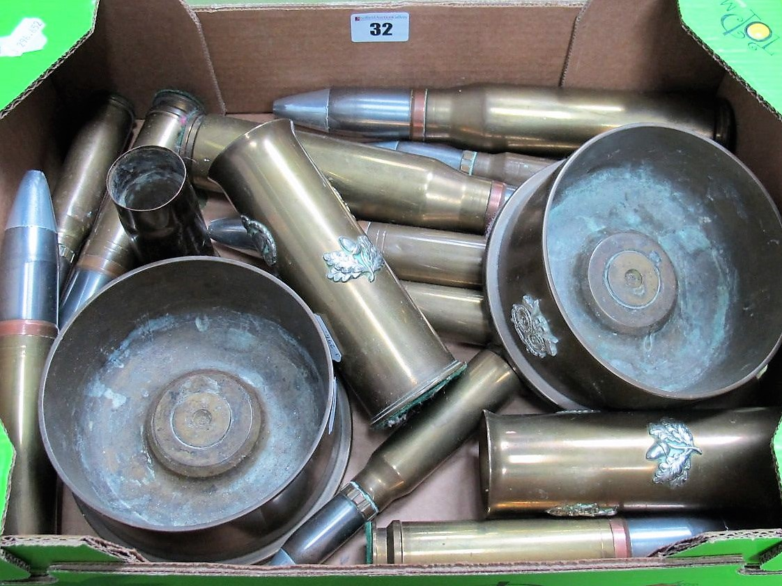 Lot 32 - A Quantity of Used Ordnance, sometimes decorated.