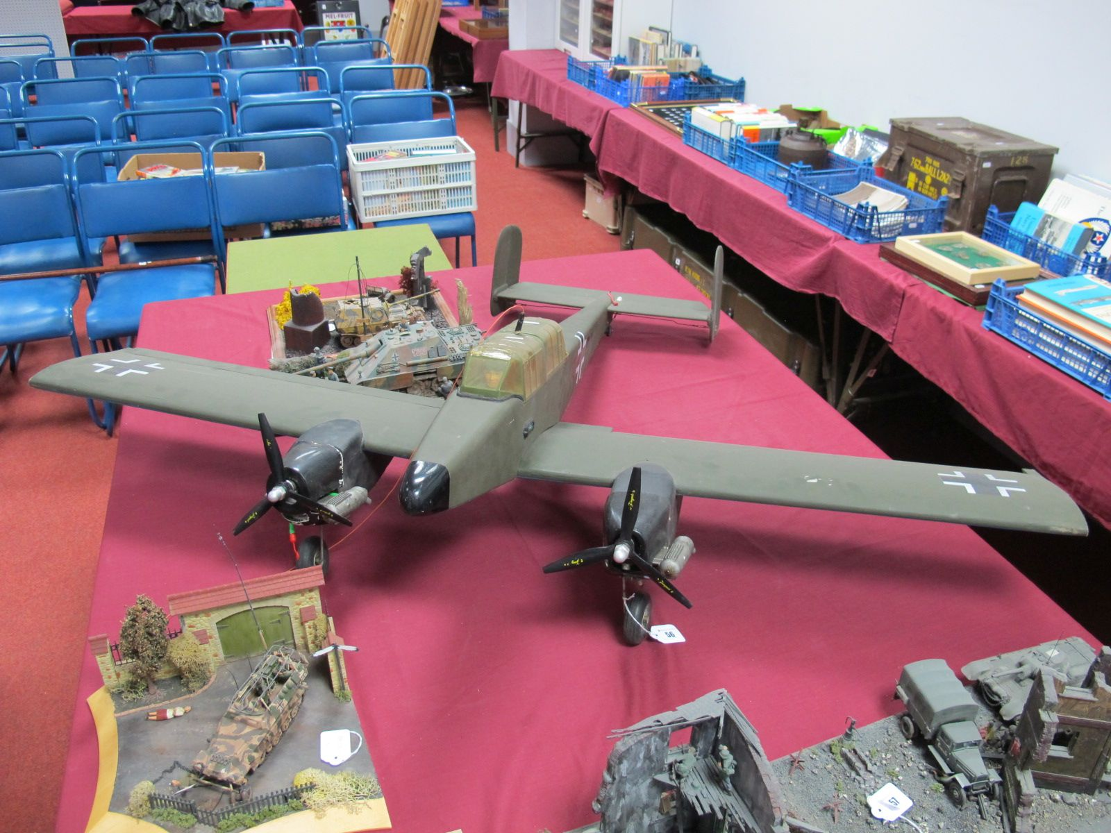 Lot 56 - A Large Scale Radio Controlled Model, of a German World War II Dornier type aircraft, wooden