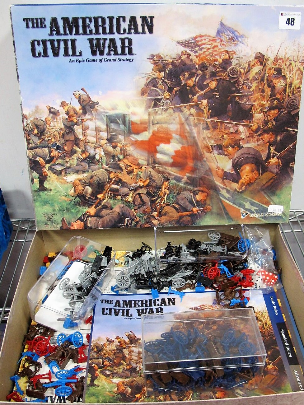 Lot 48 - The American Civil War Strategy Game, boxed.