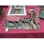 Two Highly Detailed and Very Well Built Second World War Dioramas, one with American amoured troop