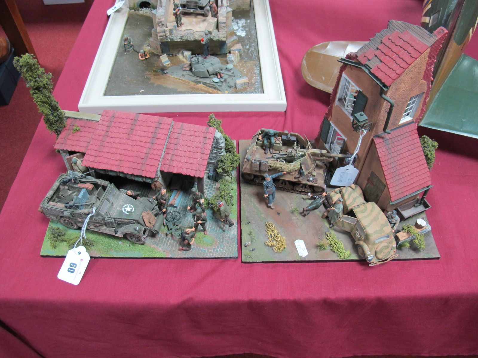 Lot 60 - Two Highly Detailed and Very Well Built Second World War Dioramas, one with American amoured troop