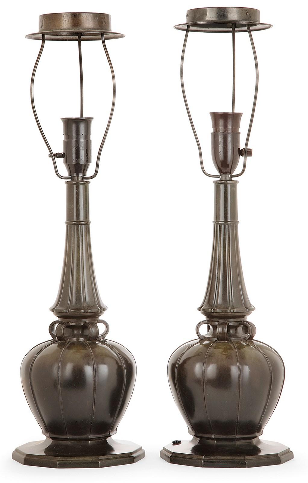 Pied De Lampe Am Pm just andersen (1884-1943) paire de pieds de lampe d