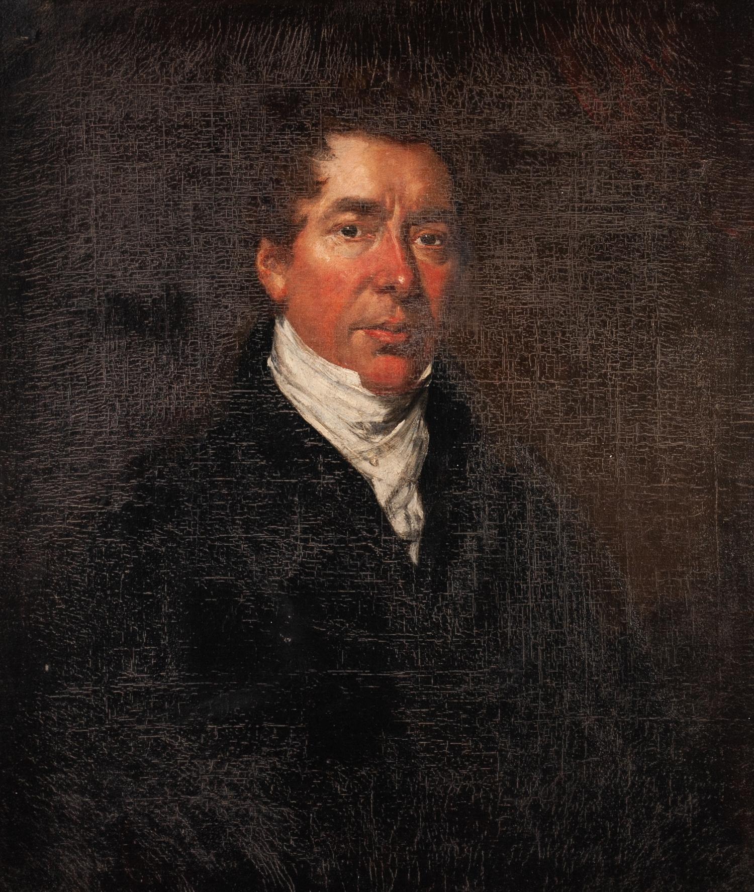 JOHN HOPPNER (1758-1810) OIL PAINTING ON CANVAS Portrait of a gentleman, half length facing right