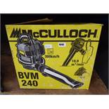 Boxed McCulloch petrol powered leaf blower