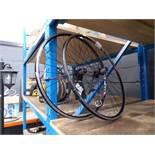 Pair of Raleigh racing bike alloy wheels