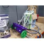Purple seed spreader