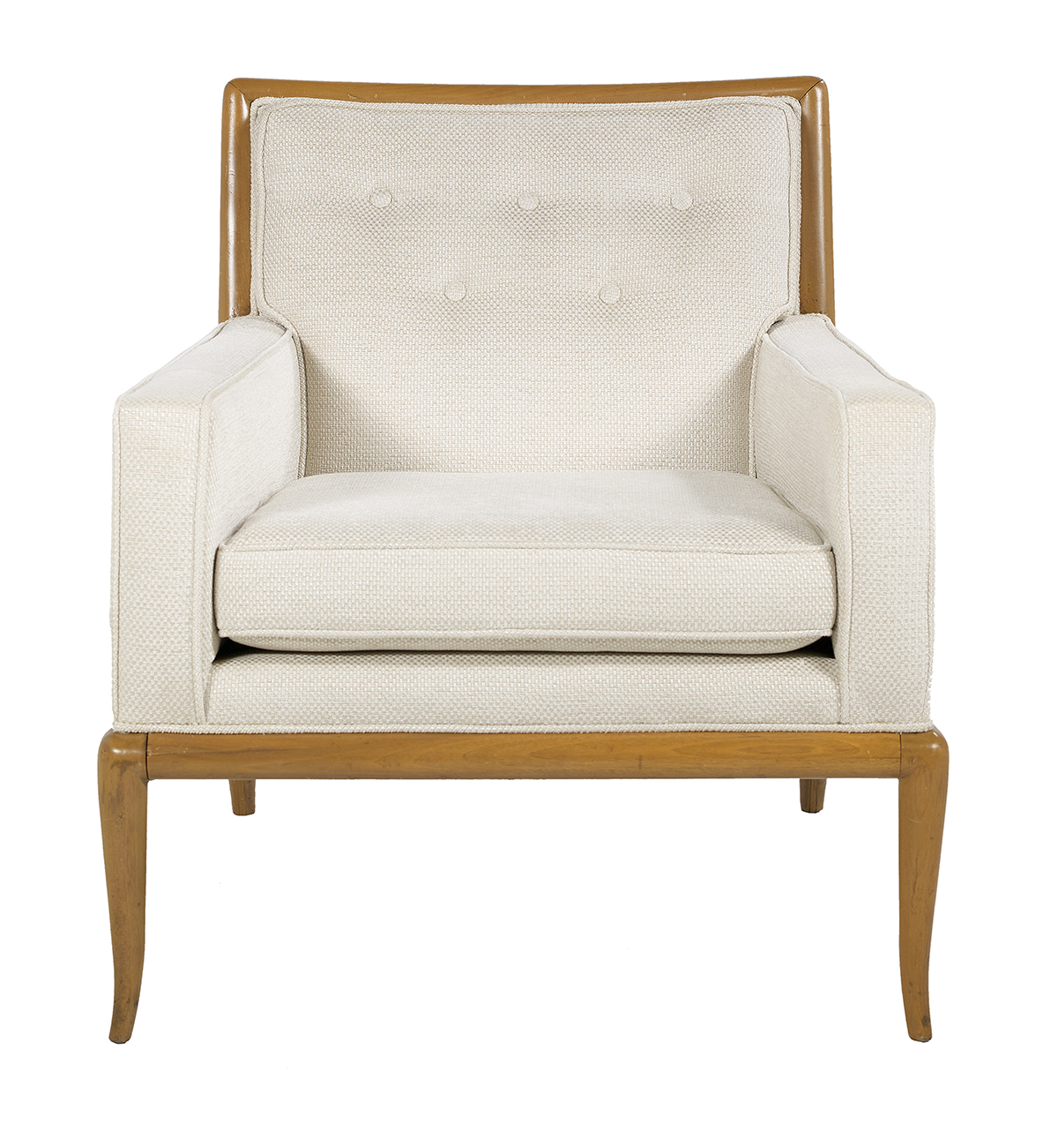 "Robsjohn-Gibbings Walnut ""WMP"" Lounge Chair - Image 2 of 2"