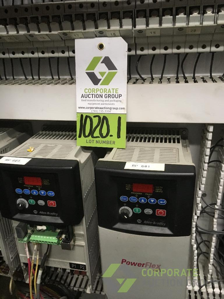 Lot 1020.1 - Contents only of control cabinet: (22) Allen Bradley VFD's for Line H ** Rigging Fee: $220 **