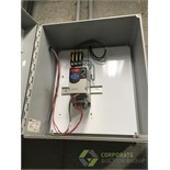 Control cabinet and contents including: (1) AB Powerflex 4M VFD in a Hoffman poly wall mount cabinet