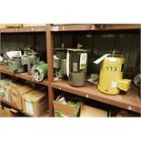 (9) assorted electric motors, 1 hp to 3 hp, several new ones ** Rigging Fee: $25 **