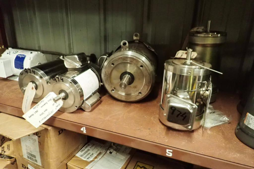 Lot 974 - (5) Assorted SSD electric motors, 1 hp to 7.5 hp ** Rigging Fee: $25 **