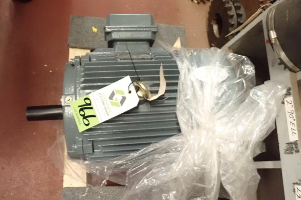Lot 966 - 2017 World Wide Electric 15 hp electric motor, 3 ph., Frame 254T, 1780 rpm ** Rigging Fee: $10 **