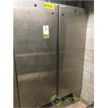 SCE stainless steel controls enclosure cabinet, 48 in. x 12 in. x 72 in. tall. ** Rigging Fee: $175