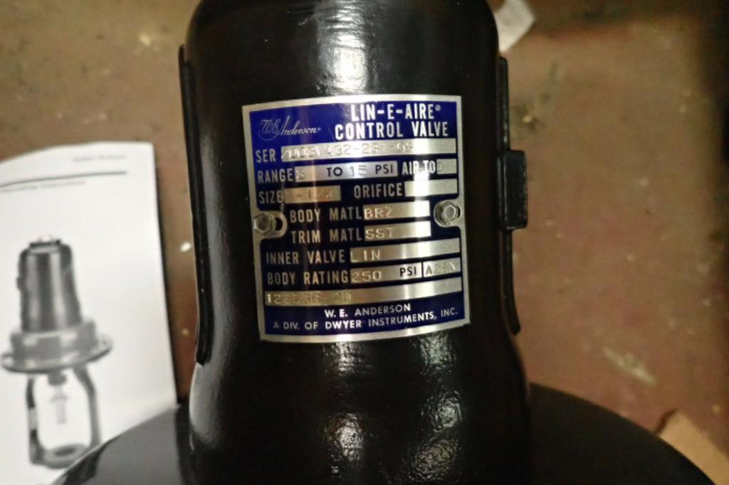 Lot 980 - Unused WE Anderson air operated hi-flow valve actuator, 1.25 in. ** Rigging Fee: $10 **