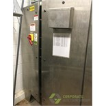 SCE stainless steel controls enclosure cabinet, 48 in. x 12 in. x 72 in. tall with fan