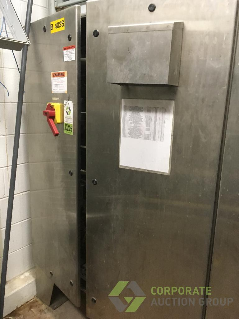 Lot 1020.4 - SCE stainless steel controls enclosure cabinet, 48 in. x 12 in. x 72 in. tall with fan