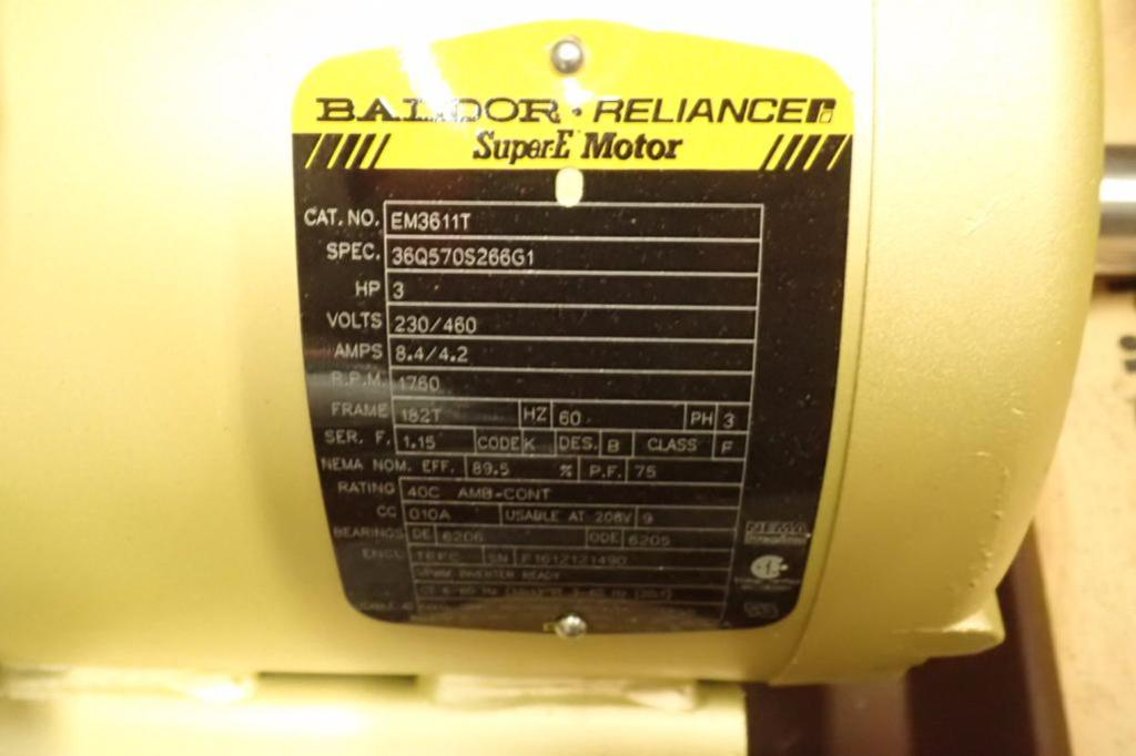 Lot 965 - Unused Baldor 3 hp electric motor, 3 ph., Frame 182T, 1760 rpm ** Rigging Fee: $10 **