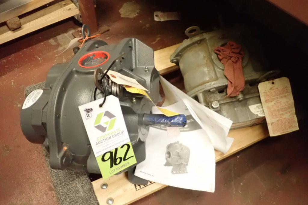 Lot 962 - (2) rotary lobe blowers, Howden rotary lobe blower, Model 53U-RAI, other is parts blower ** Rigging