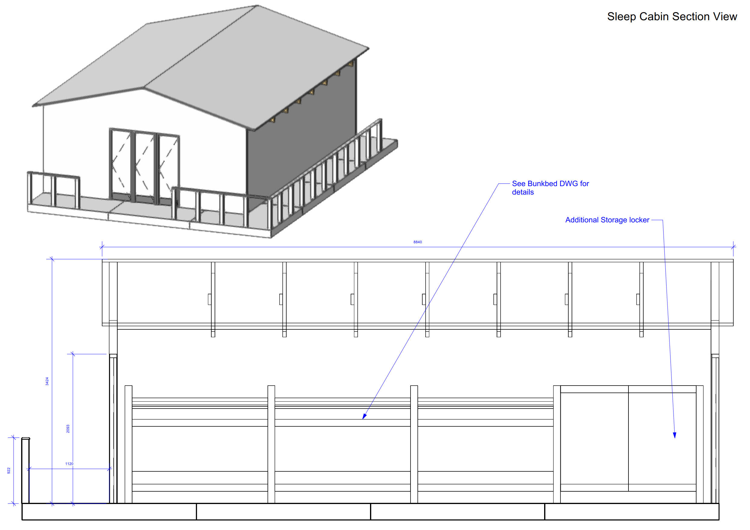 SINGLE SPAN TIMBER BUILDING/ CABIN, forming accommodation area, internal dimensions approx. 8.4m x - Image 29 of 31