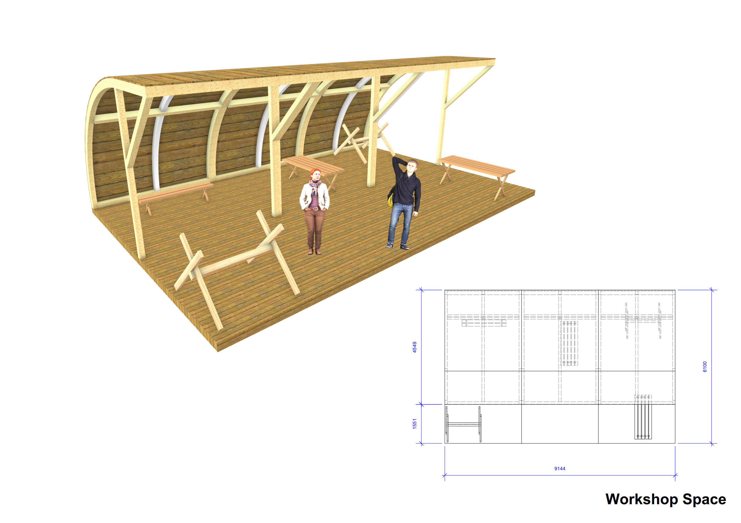 SINGLE SPAN TIMBER BUILDING/ CABIN, forming accommodation area, internal dimensions approx. 8.4m x - Image 31 of 31