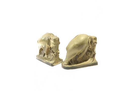 Poole Pottery Elephant Bookends (813) designed and modelled by