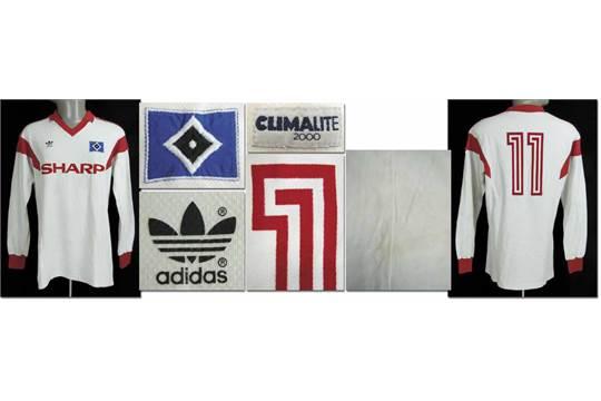 match worn football shirt Hamburger SV 198889 Original