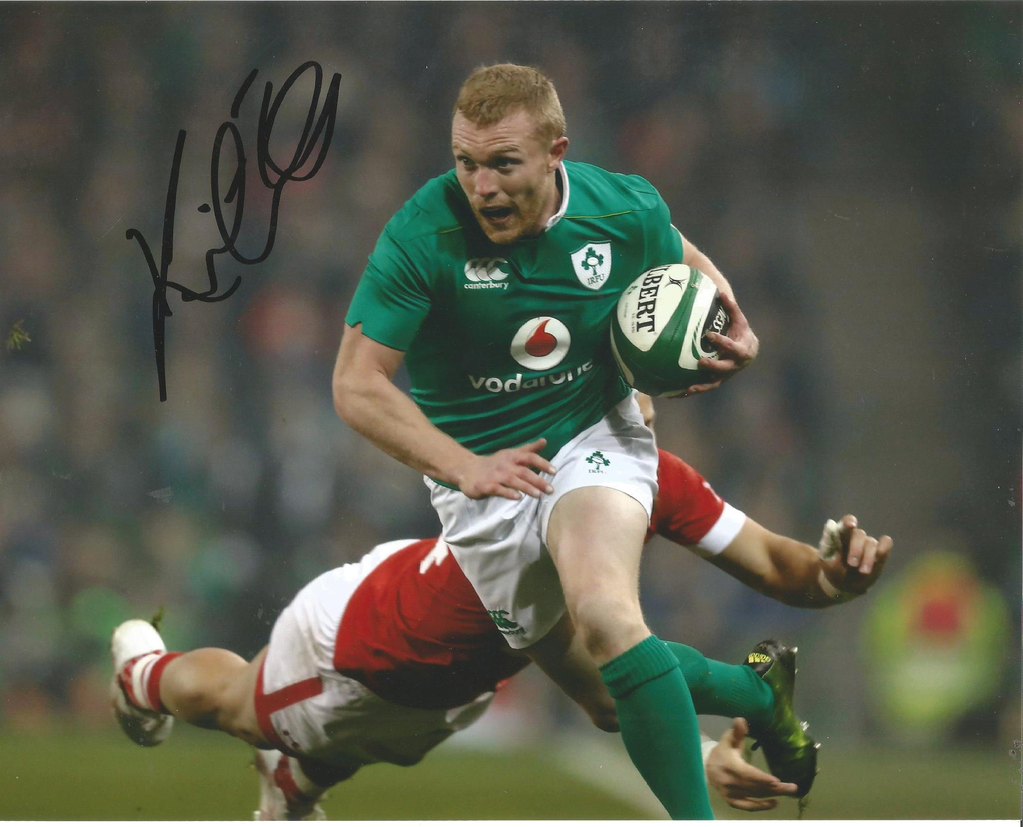 Lot 397 - Keith Earles Signed Ireland Rugby 8x10 Photo. Good Condition. All signed pieces come with a