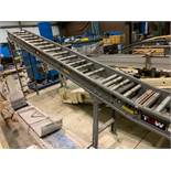 TGW mild steel gravity roller decline conveyor. (Located in Kenosha, WI)
