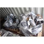 Lot of assorted pneumatic pipe fittings. (Located in Kenosha, WI)