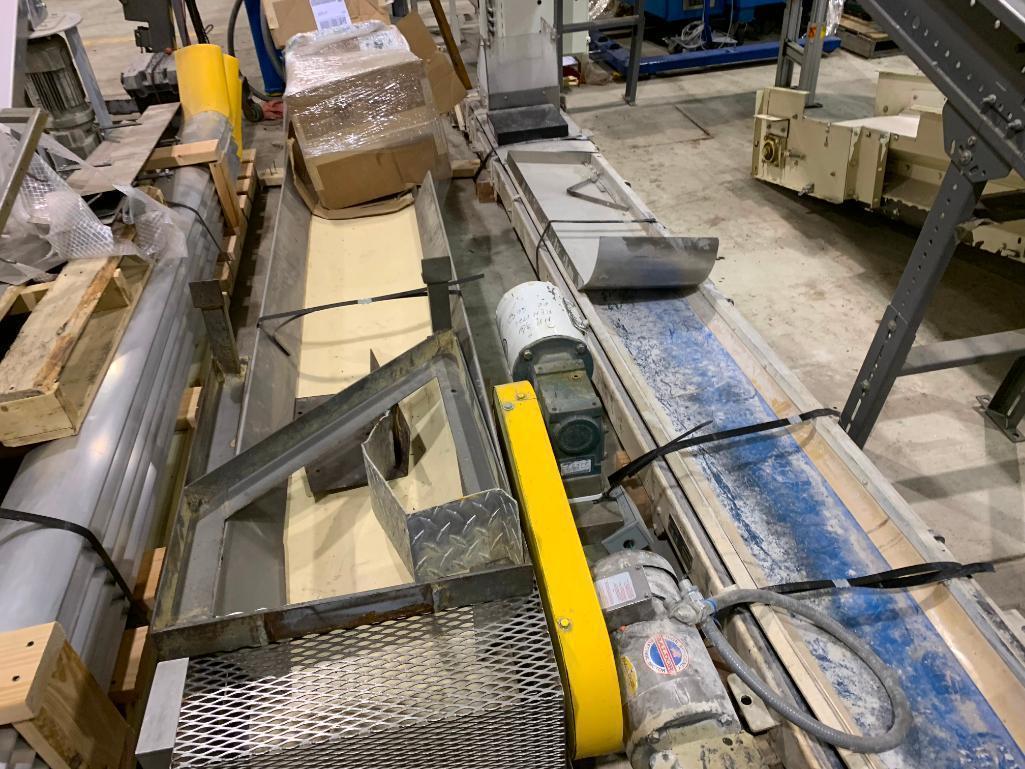 Lot 150 - (2) sections of mild steel belt conveyor. (Located in Kenosha, WI)