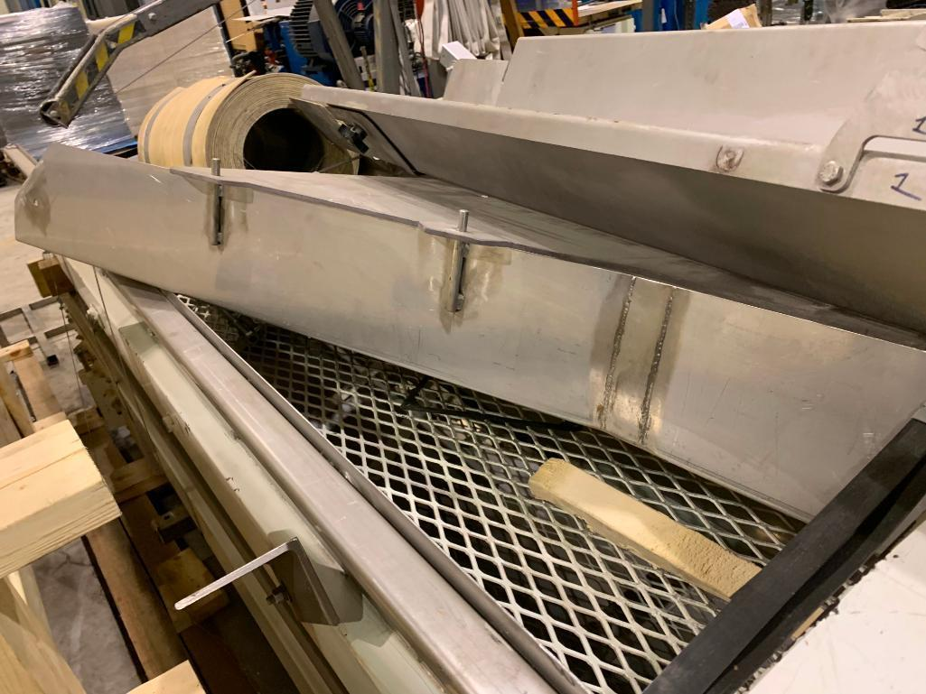 Lot 152 - Mild steel conveyor frame on skid. (Located in Kenosha, WI)