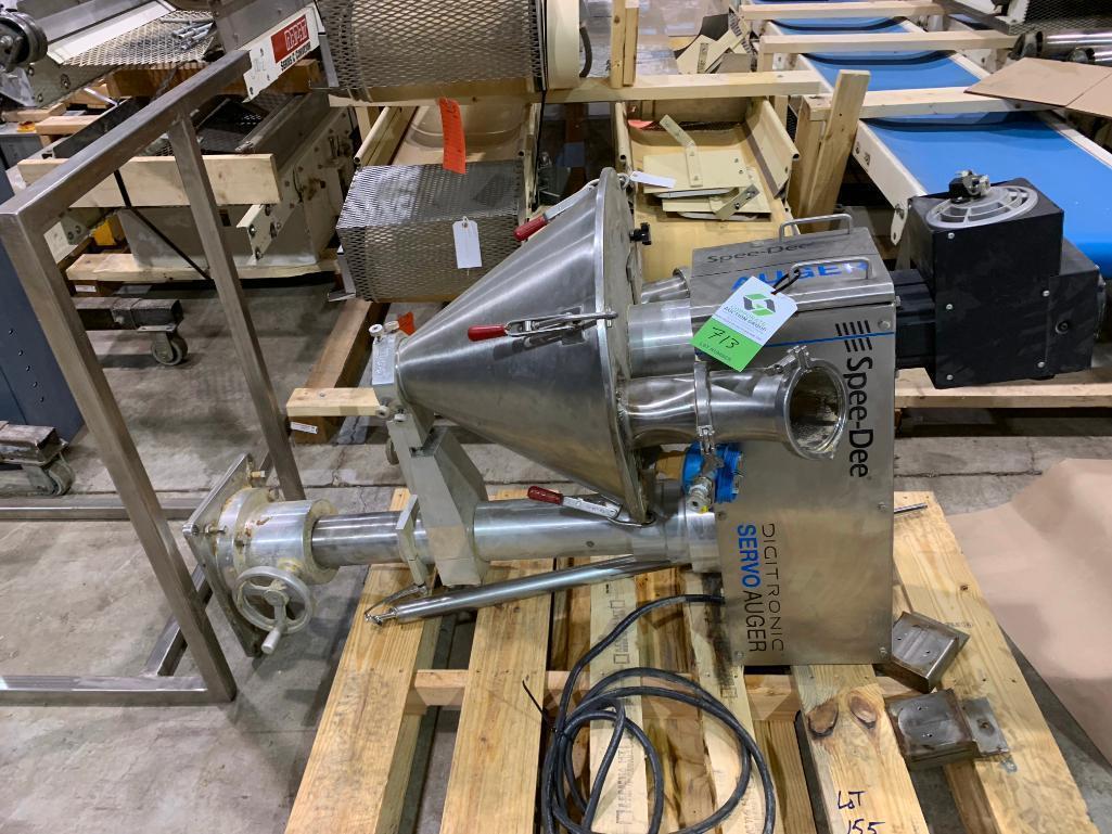 Lot 155 - Spee-Dee servo auger filler. (Located in Kenosha, WI)