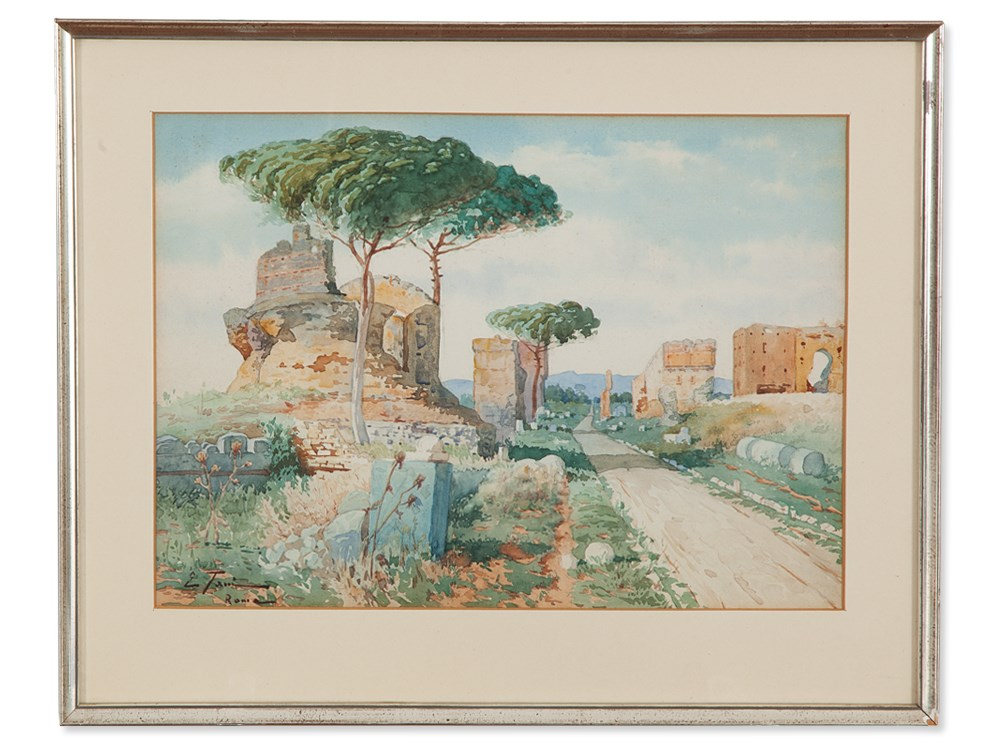 Edoardo Tani, \'Ancient Ruins at the Via Appia\', around 1920 ...