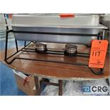 Chafing dish black iron base support stands