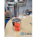 Lot of (3) 3 gallon clear plastic/stainless steel base juice dispenser