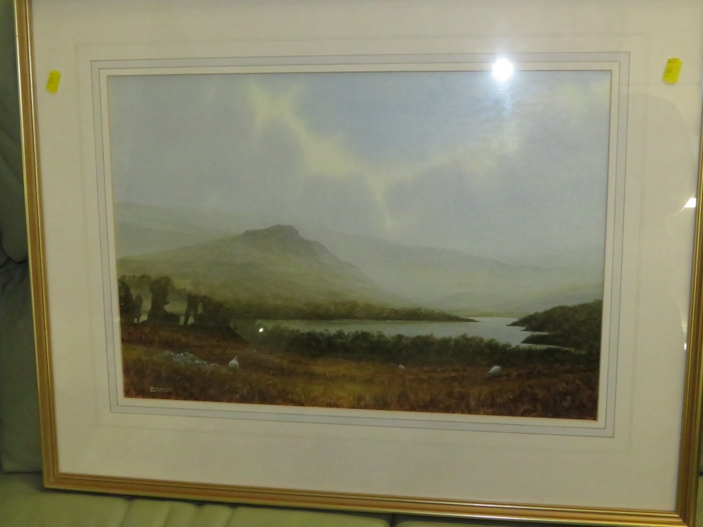 Lot 59A - 'SHEEPS TOR BURRATOR RESERVOIR DARTMOOR NO 18', WATERCOLOUR, SIGNED LOMBARD LOWER LEFT, FRAMED AND