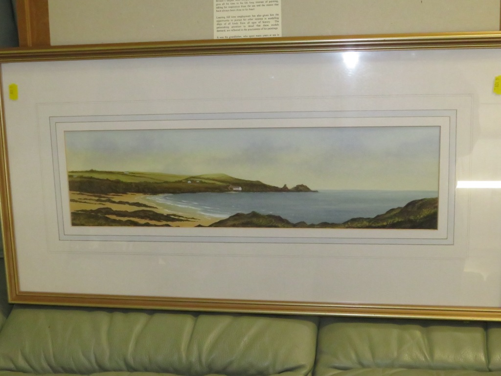Lot 59B - 'MOTHER IVYES BAY CORNWALL NO 36', WATERCOLOUR, SIGNED LOMBARD LOWER LEFT, FRAMED AND GLAZED, TITLED