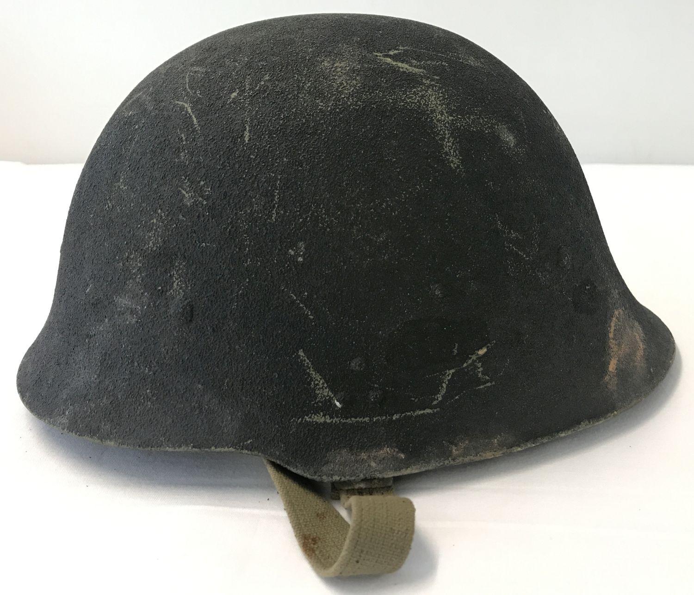 A Yugoslav Kevlar helmet, circa 1980's.