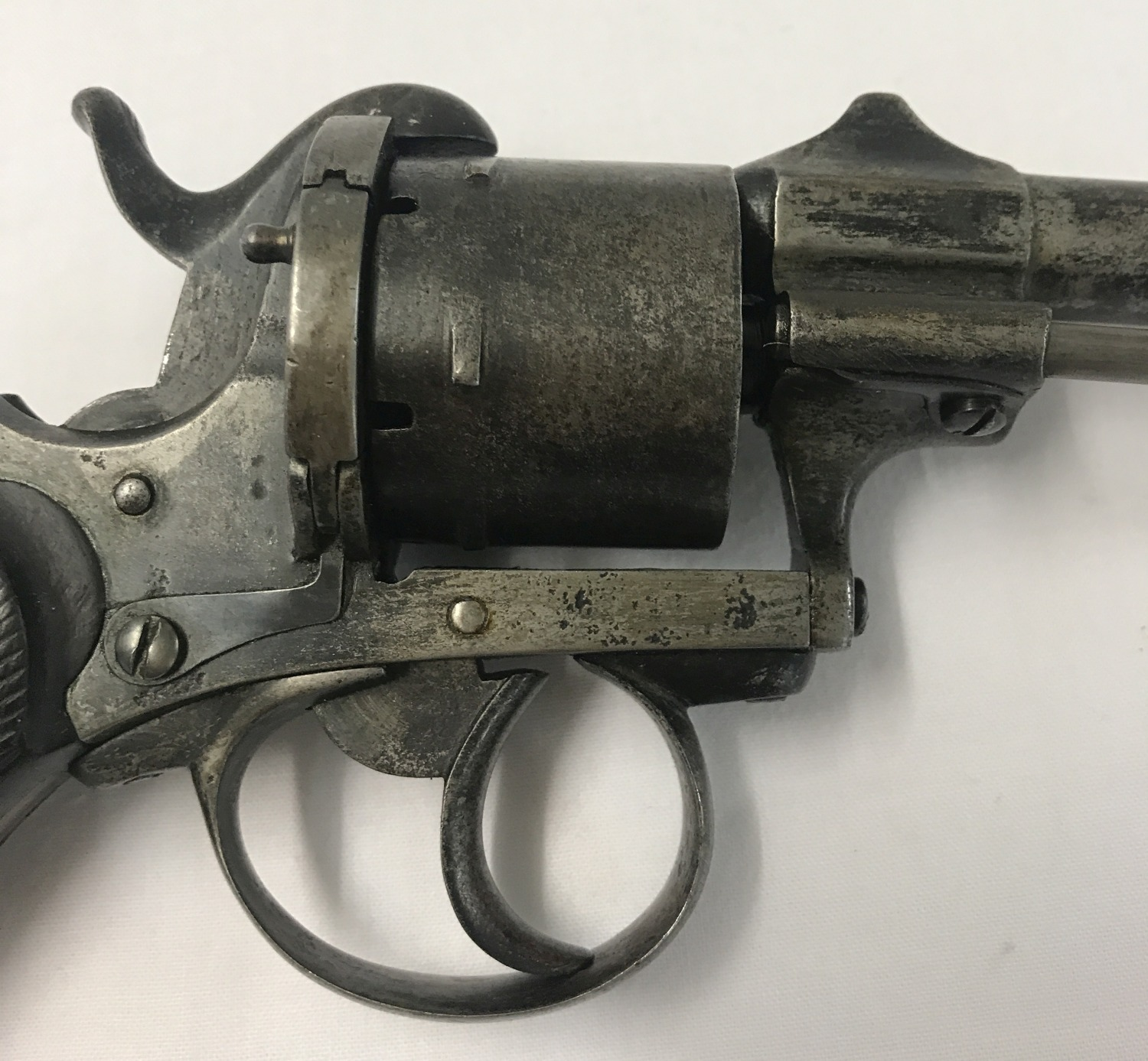 An antique Belgium Pinfire 9mm revolver c 1865. - Image 3 of 5