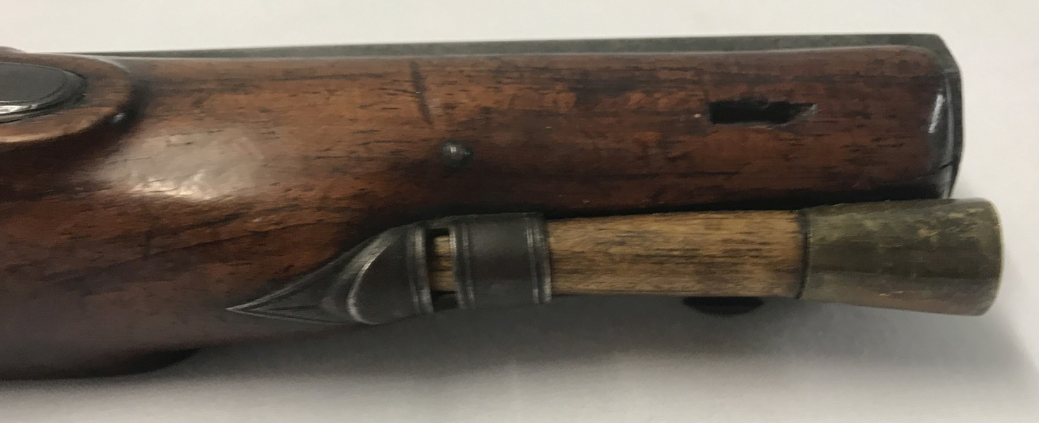 An antique percussion overcoat 20 bore pistol c 1835. - Image 3 of 5