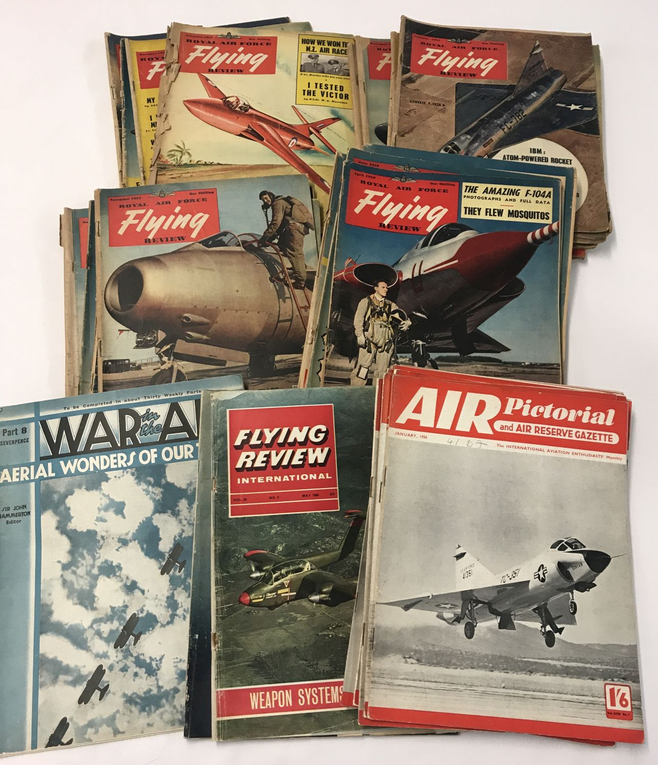 Lot 192 - 24 x RAF Flying Review magazines 1953-56.