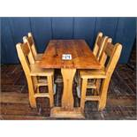 "PUB TABLE WITH FOUR CHAIRS - TABLE L 48"" W 29 1/2"" H 41"""