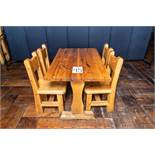"DINING TABLE WITH FOUR CHAIRS - TABLE L 48"" W 27 1/2"" H 30"""