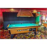 "VALLEY COMMERCIAL POOL TABLE WITH LIGHT 92"" BY 52"" LIGHT 46"" BY 26"""