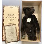 Steiff British Collectors 1907 Replica Teddy Bear, Ltd Edition 965 of 3000, Mint and boxes. 60cms
